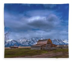 Teton National Park Mormon Row Fleece Blanket