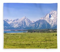 Teton Panorama Fleece Blanket