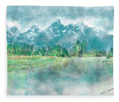 Teton Snow Reflections Fleece Blanket