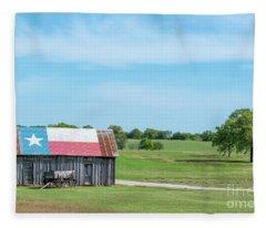Texas Barn Fleece Blanket