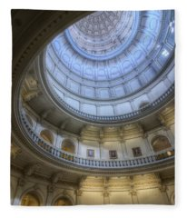 Texas Capitol Dome Interior Fleece Blanket
