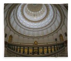 Texas Capitol Dome Wide Angle Fleece Blanket