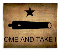 Texas Come And Take It Flag  1835 Fleece Blanket
