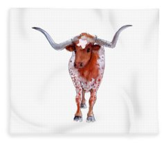 Texas Longhorn Branded  Fleece Blanket