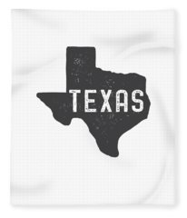 Texas Map Tee Fleece Blanket