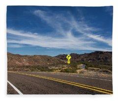 Texas River Road Fleece Blanket