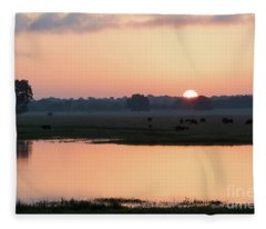Texas Sunrise Fleece Blanket