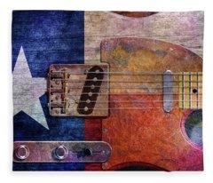 Texas Tele Two Fleece Blanket