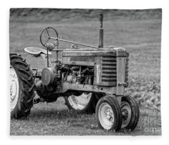 Texas Tractor Fleece Blanket