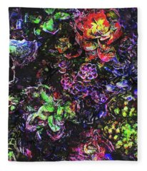 Textural Garden Plants Fleece Blanket