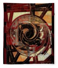 Textured Abstract Fleece Blanket