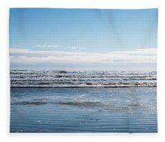 Textured Blues Fleece Blanket