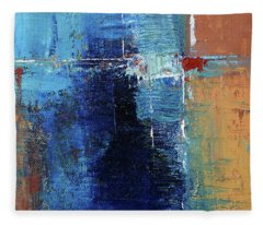 Textured Square No. 2 Fleece Blanket