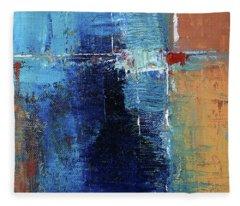 Textured Square No. 2 Fleece Blanket