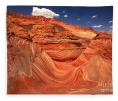 Textures Lines And Clouds At The Wave Fleece Blanket