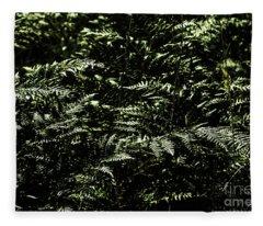 Textures Of A Rainforest Fleece Blanket