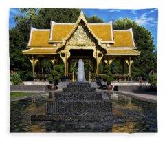 Thai Pavilion - Madison - Wisconsin Fleece Blanket