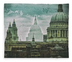 Thamesscape 2 -  Ghosts Of London Fleece Blanket