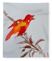 Thank You Bird Fleece Blanket