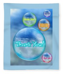 Thank You Bubbles Fleece Blanket