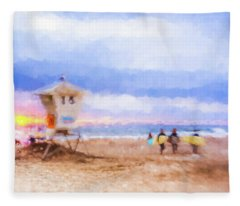 That Was Amazing Watercolor Fleece Blanket