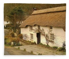 Thatched Cottage By Ford  Fleece Blanket