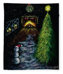 That's Christmas To Me  Fleece Blanket