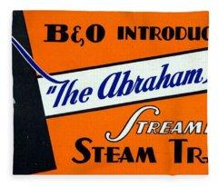 The Abraham Lincoln Fleece Blanket