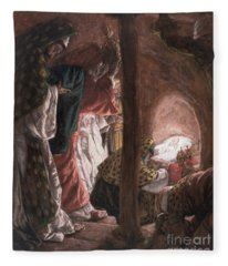 The Adoration Of The Wise Men Fleece Blanket