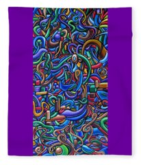 Colorful Abstract Art Abstract Painting Colorful Chromatic Acrylic Painting Fleece Blanket