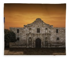 The Alamo Mission In San Antonio Fleece Blanket