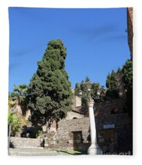 The Alcazaba Of Malaga In Andalucia Spain Fleece Blanket