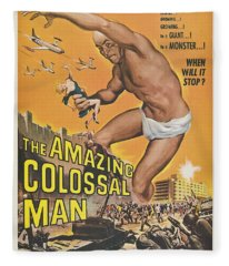 The Amazing Colossal Man Movie Poster Fleece Blanket
