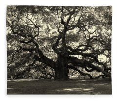 The Angel Oak Fleece Blanket