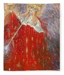 The Angel Of Life Fleece Blanket