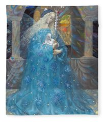 The Angel Of Truth Fleece Blanket