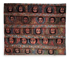 The Angels Of Debre Birhan Selassie Church Fleece Blanket