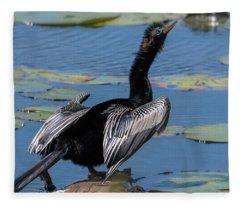 The Bird, Anhinga Fleece Blanket