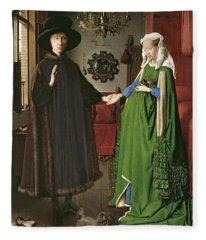 The Arnolfini Marriage Fleece Blanket