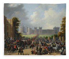 The Arrival Of Louis-philippe Fleece Blanket