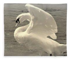 The Art Of The Swan  Fleece Blanket