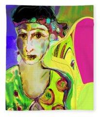 The Artist In Fauve Fleece Blanket