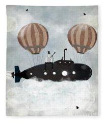 The Astrologer 2 Above The Clouds Fleece Blanket