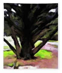 The Avenue Of Trees 1 Fleece Blanket