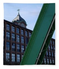 The Ayer Mill And Clock Tower Fleece Blanket