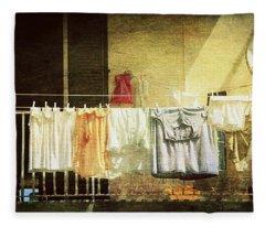 The Balcony Fleece Blanket