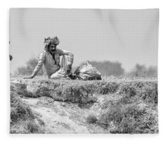 Fleece Blanket featuring the photograph The Banks Of The Lower Ganges by Chris Cousins