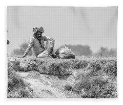 The Banks Of The Lower Ganges Fleece Blanket