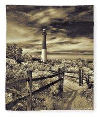 The Barnegat Lighthouse New Jersey Fleece Blanket