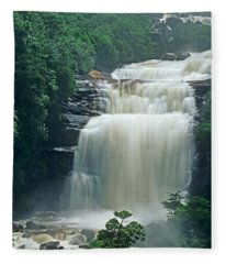 The Base Of Angel Falls In Canaima National Park Venezuela Fleece Blanket